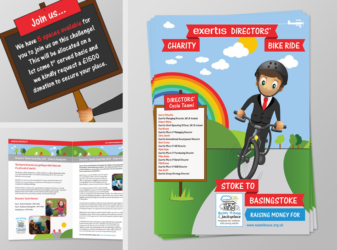 Charity Bike Ride - Print Booklet Designs